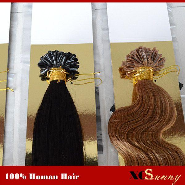"""XCSUNNY 18 """"20"""" U Astuce Extensions de Cheveux Blonde Humaine 100g 1g / s 100% Vierge Malaisienne U Astuce Extensions de Cheveux En Stock"""