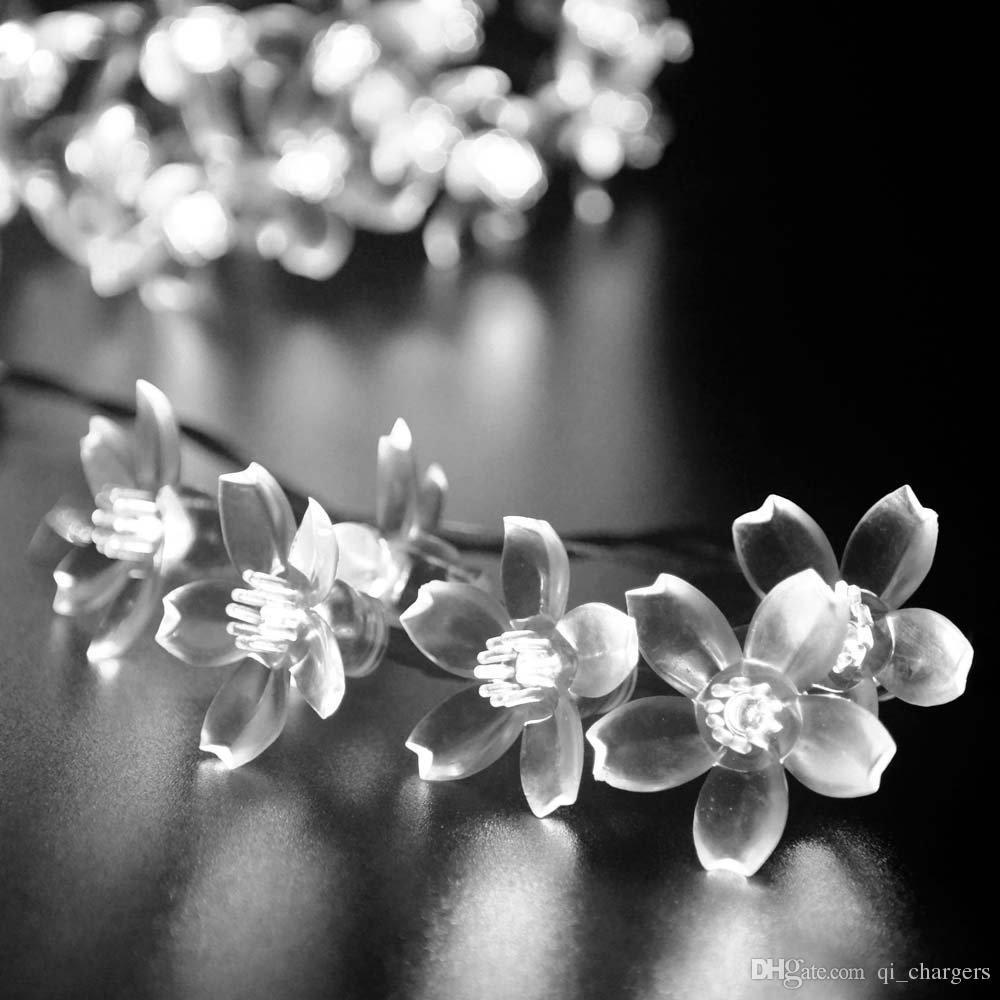 Shop Solar Lamps Online White Wedding Flower Solar String Fairy