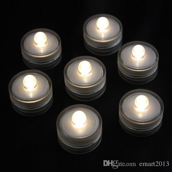 Gratis verzending LED Dompelbare Bruiloft Licht Vaas Basis Floralytes Tea Lamp 100 stks / partij 11 Kleuren