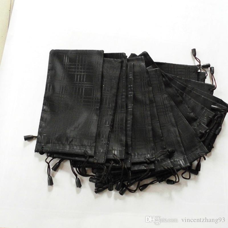 Femmes mode grille noir sac pochette souple lunettes sac lunettes cas chaude étanche lunettes de soleil livraison gratuite 100 pcs / lot 18 * 9 cm