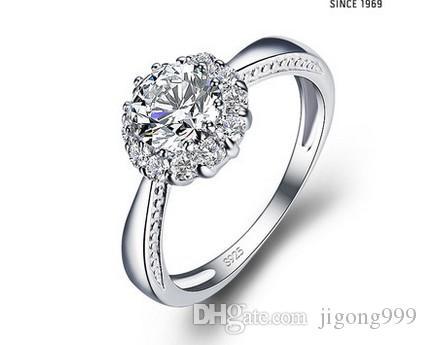 diamante 925 anel de senhora de prata tamanho aberto (yt-jd) ded