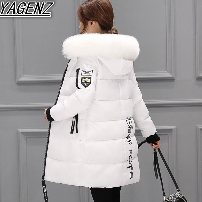 Großhandels- Lange Winter-Jacken für Frauen 2018 arbeiten Winter-Jacken Dame High-end unten Baumwolljacken Frauen-warme Baumwollmantel-Frauenkleidung um
