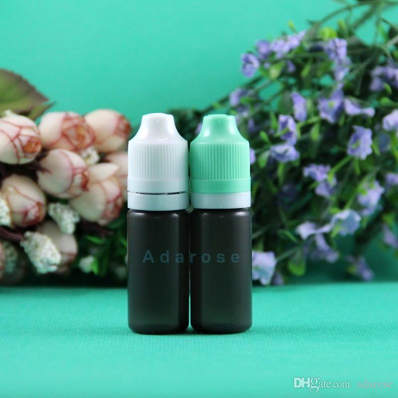 Dropper Bottle 100pcs 10ML 30ML LDPE BLACCK With tamper evident & Child Proof & Double proof Vapor Vape e Cig Liquid