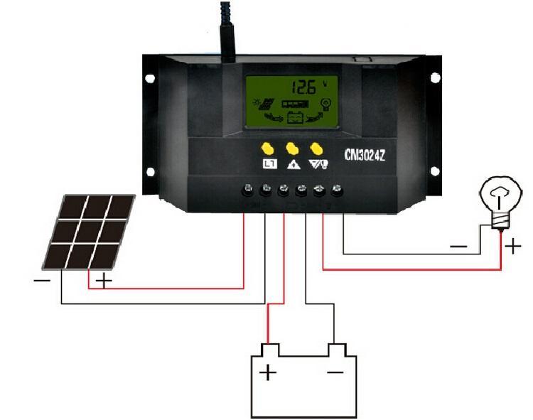 جودة عالية 12 فولت / 24 فولت 30a الشمسية تحكم الشمسية لوحة lcd المسؤول تحكم نظام منظم الطاقة الشمسية شحن مجاني