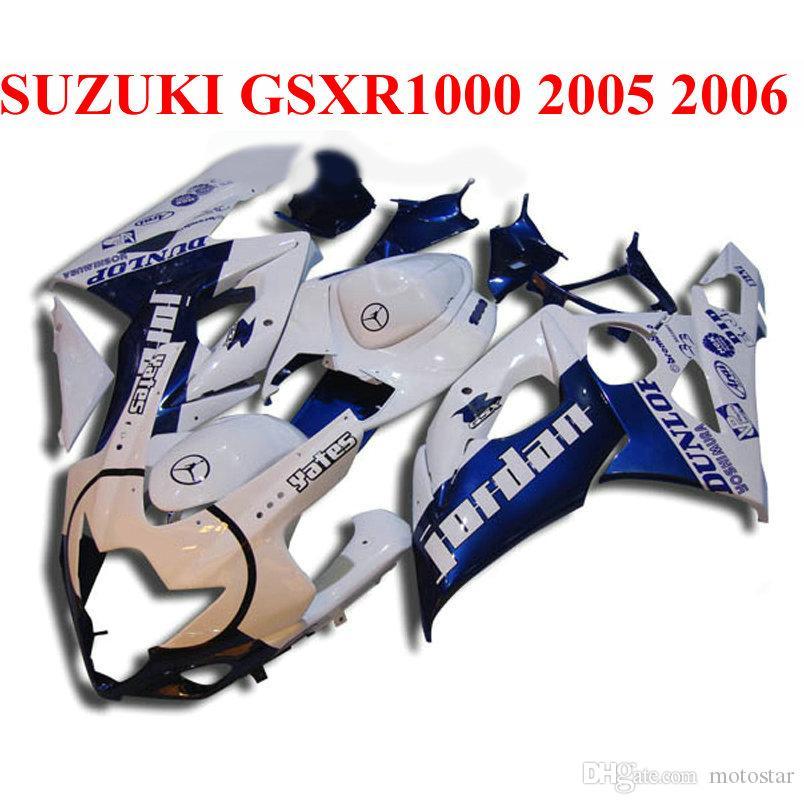 Высокое качество обтекатель комплект для SUZUKI 2005 2006 gsxr1000 обтекатели 05 06 GSX-R1000 K5 K6 черный синий белый пластиковые bodykits SX69