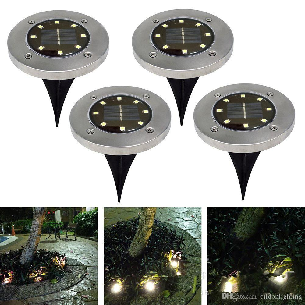 Solar Underground Lights 150LM 8LED 5inch Aluminum Alloy Garden Lawn LED Pin Lamps Outdoor Waterproof Park Lighting Direct Shenzhen China