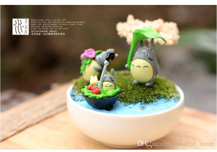 2019 Artificial Cartoon Totoro Dolls Toy Fairy Garden Miniatures