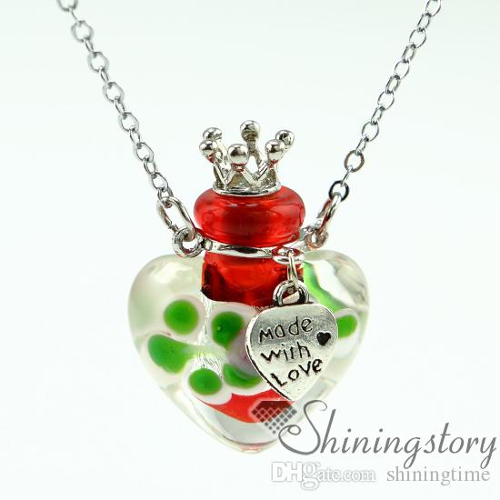 coeur petites bouteilles de parfum parfum petites bouteilles aromathérapie diffuseur bijoux petites bouteilles en verre colliers pendentif diffuseur médaillon