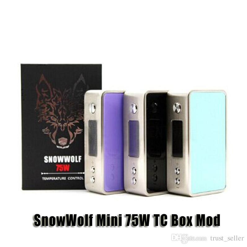 Authentic SnowWolf Mini 75W TC Box Mod VW 5-75W Temperature Control Mod for 510 thread Sub ohm Tank