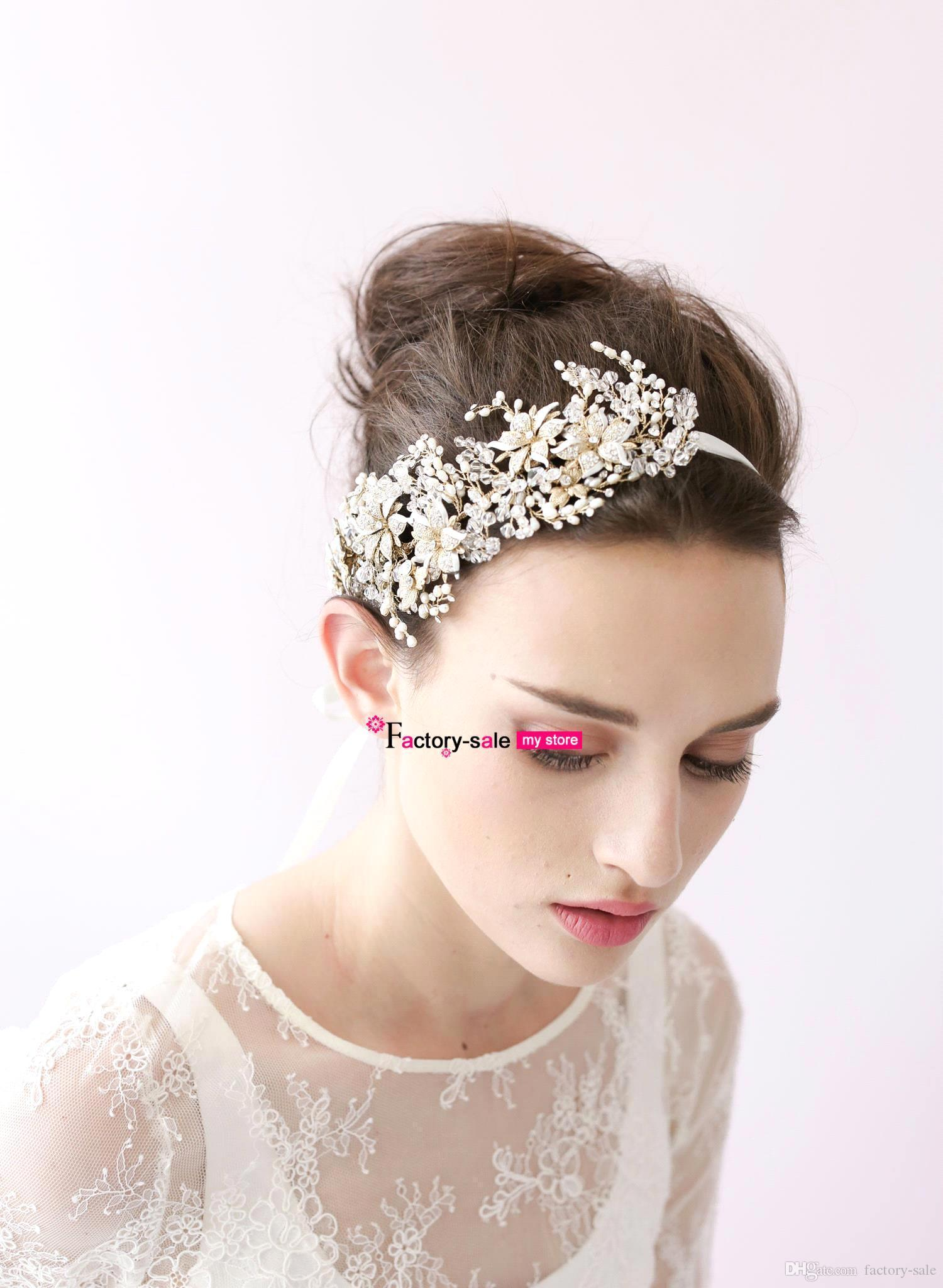 2017 Vintage Hair Band Head Pieces Pearls