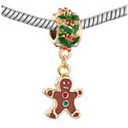 Рождество 22K золото обшивки мотаться снеговик очарование в цветах эмали подходят Pandora Chamilia biagi браслет