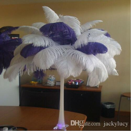 pulgadas en blanco pluma de la avestruz pluma artesana suministros de envo wedding party centros de mesa decoracin gratuito desde jackylucy