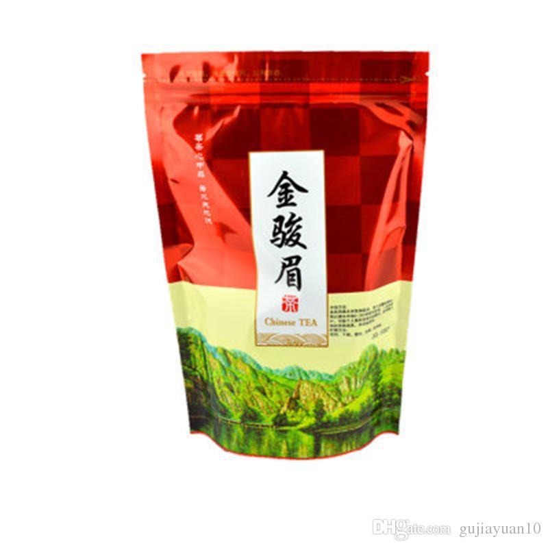 Tercih 250g Çin Organik Siyah Çay Wuyi Toplu Jinjunmei Kırmızı Çay Sağlık Yeni Pişmiş Çay Yeşil Gıda Sızdırmazlık şeridi ambalaj