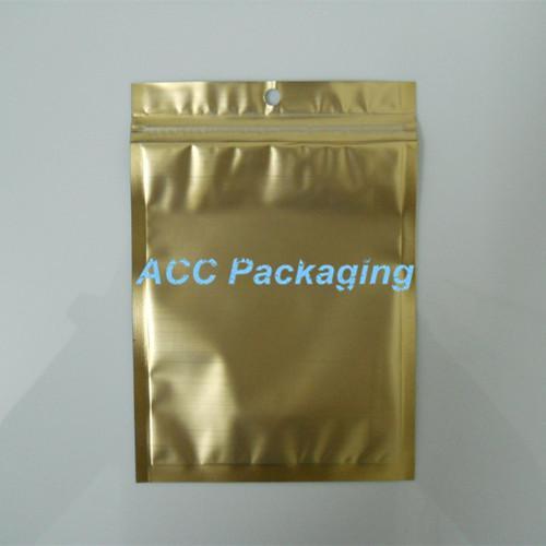 "Wholesale 10.5 * 15cm(4.1x5.9 "")ゴールデンクリアセルフシールジッパープラスチック小売包装バッグジッパーロックバッグ小売パッケージ"