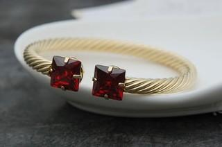 Gold * Silber Inlay mehr Farbe Kristall Damen Armband xgspc)