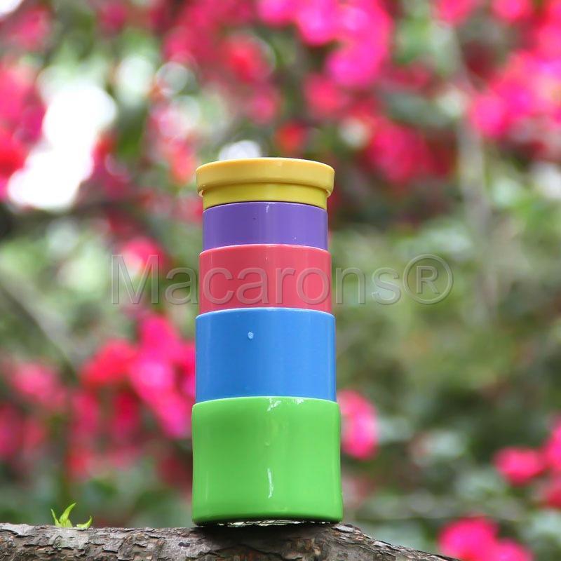 2015 حار بيع جديد براءات outdoor الرياضة تلسكوبي المحمولة زجاجة المياه 350 ملليلتر كوب sillicone bpa الحرة 5 ملون # 4969