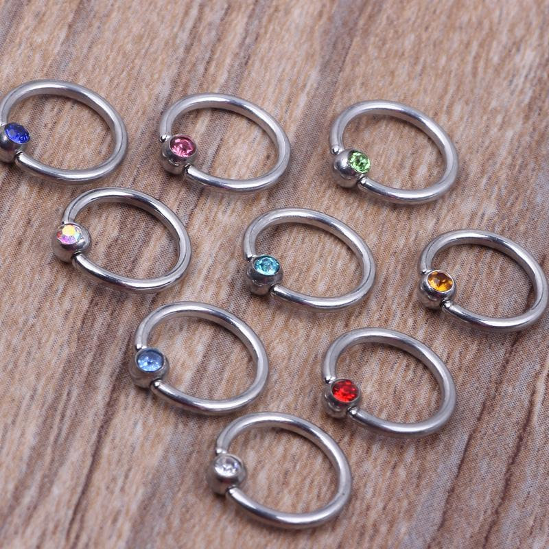 New design circular nose ring N21 steel mix 8 colors 100pcs/lot body piercing jewelry nose hoop ring