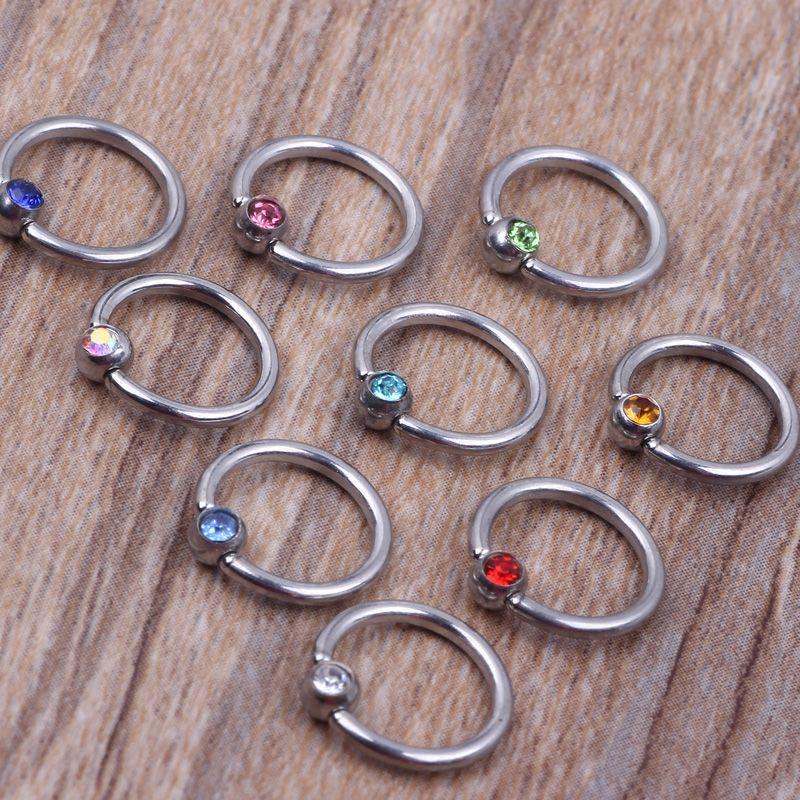 تصميم جديد دائري الأنف خاتم N21 الصلب مزيج 8 ألوان 100pcs التي / الكثير المجوهرات ثقب الجسم حلقة الأنف طارة