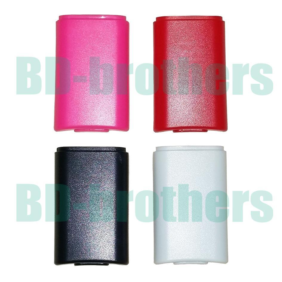 Bunte batterie case abdeckung shell gehäuse für xbox 360 xbox360 wireless controller wiederaufladbare ersatz schwarz weiß rot rosa 50pcs / lot