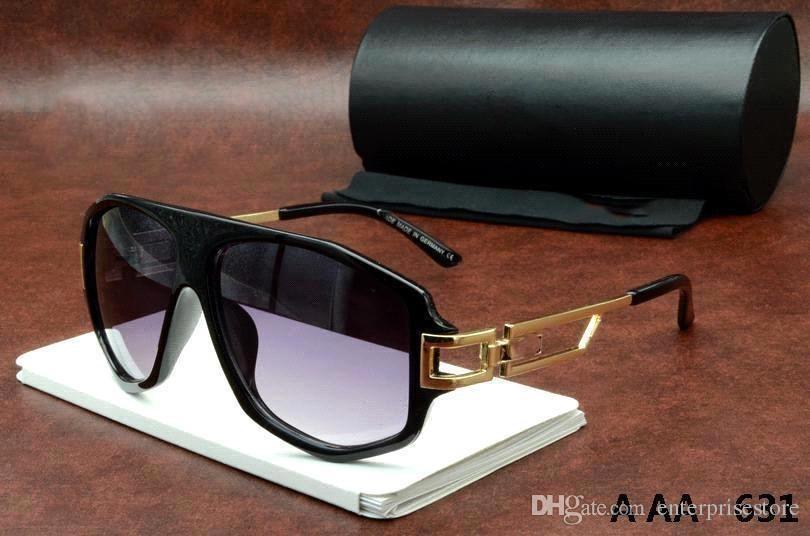 شحن مجاني للأشعة فوق البنفسجية حماية إيطاليا العلامة التجارية مصمم الذهب سلسلة Tyga Medusa النظارات الشمسية الرجال / النساء نظارات الشمس نظارات 631