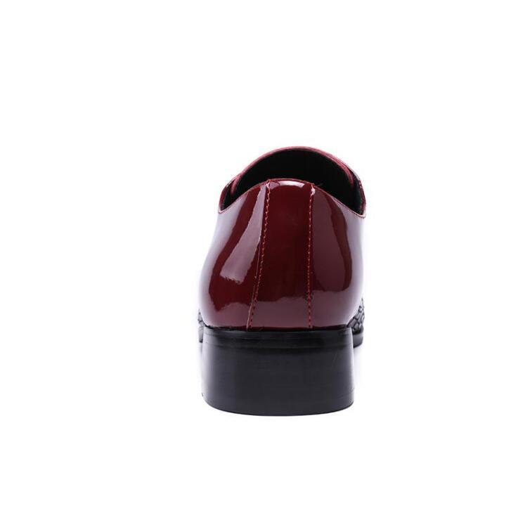 2017 neue stil Fashion stylist spitz schwarz rot flut herren leder schuhe Englisch business casual lace up bankett kleid bräutigam schuhe M370