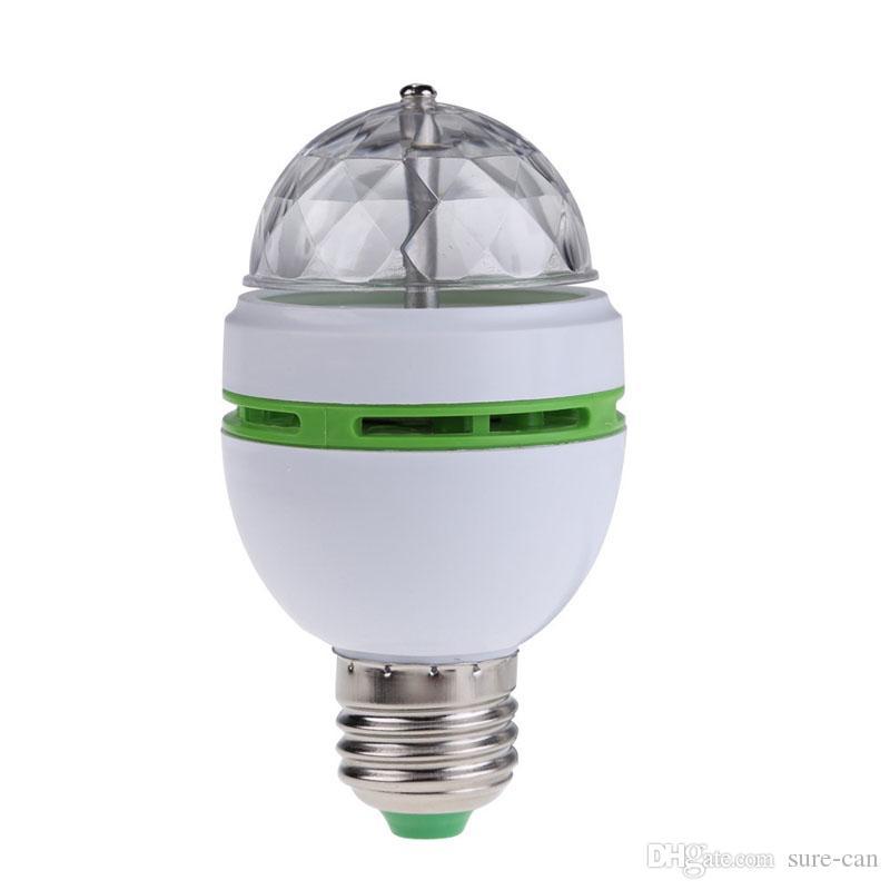 30 X In da Lâmpadas LED completa 3W Cor RGB E27 LED de cristal Stage luz Auto Rotating lâmpada AC85-265V Disco DJ Partido Laser férias Dança lâmpada