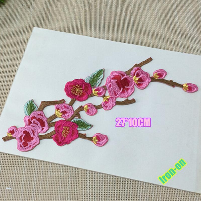 아름 다운 꽃 appliques 액세서리 철 드레스 장식 패치