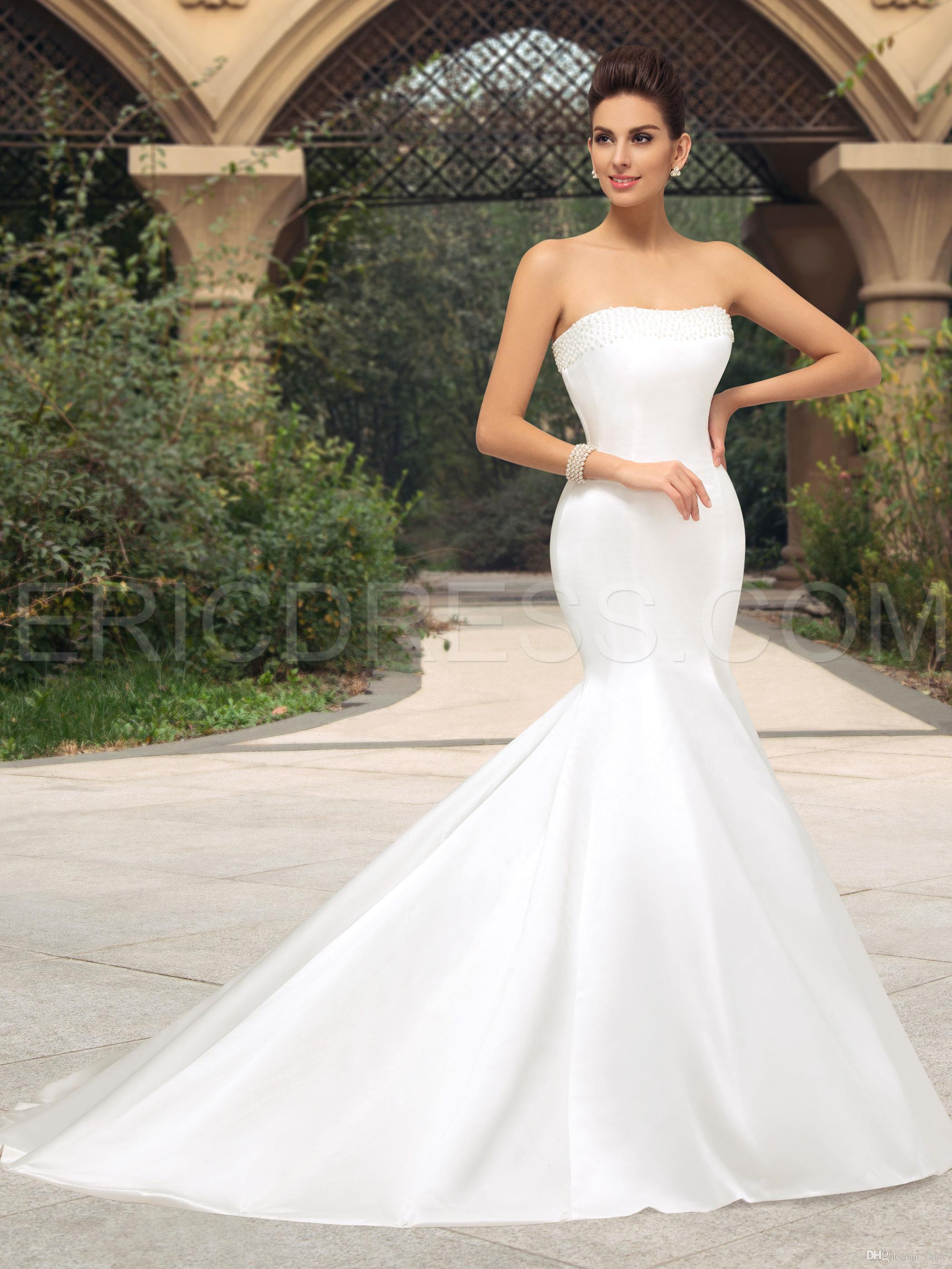 Nwd27 2017 Fashionable Of Bride Simple Satin Mermaid Wedding Dress ...
