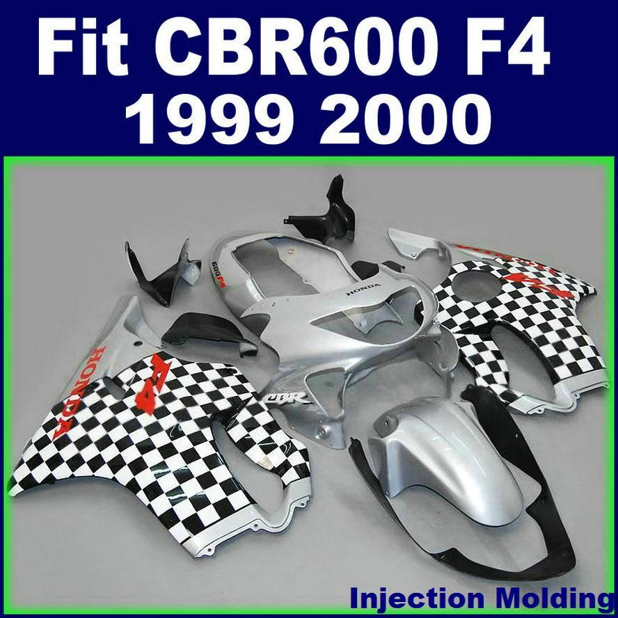 HONDA bodyworks CBR 600 F4 için enjeksiyon kalıplama yüksek sınıf 1999 2000 gümüş 99 00 cbr600 f4 özel fairings OSXD