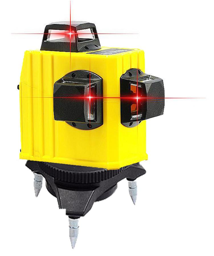 Professional 12 line laser level 360 Rotary Self-leveling Cross Line 3D Leveling Tools Red Beam Vertical And Horizontal (5)