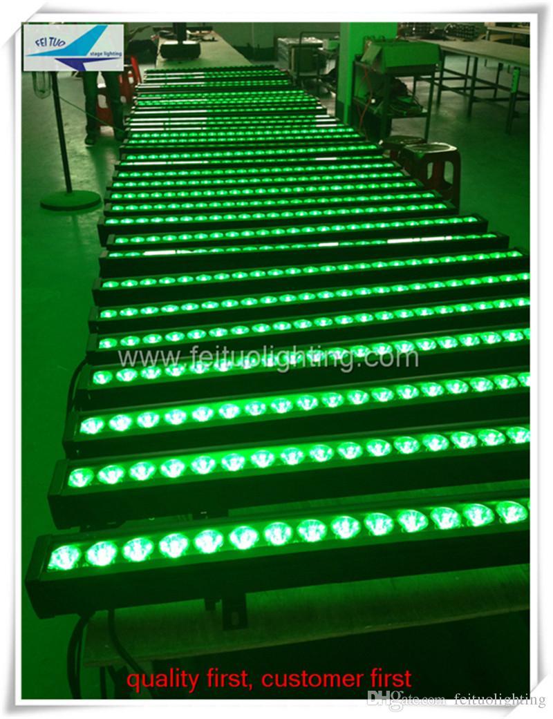 (16 teile / los) China markt hohe qualität outdoor led waschlicht 24x4 w rgbw 4in1 wall washer, dmx rgbw wall washer
