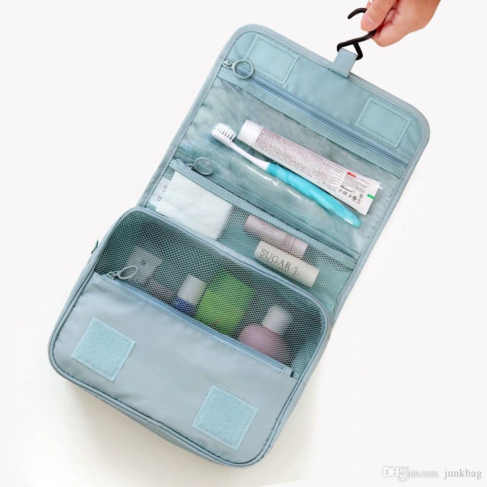 High quality female external multi-functional suspension waterproof cosmetic bag ladies' portable travel bag