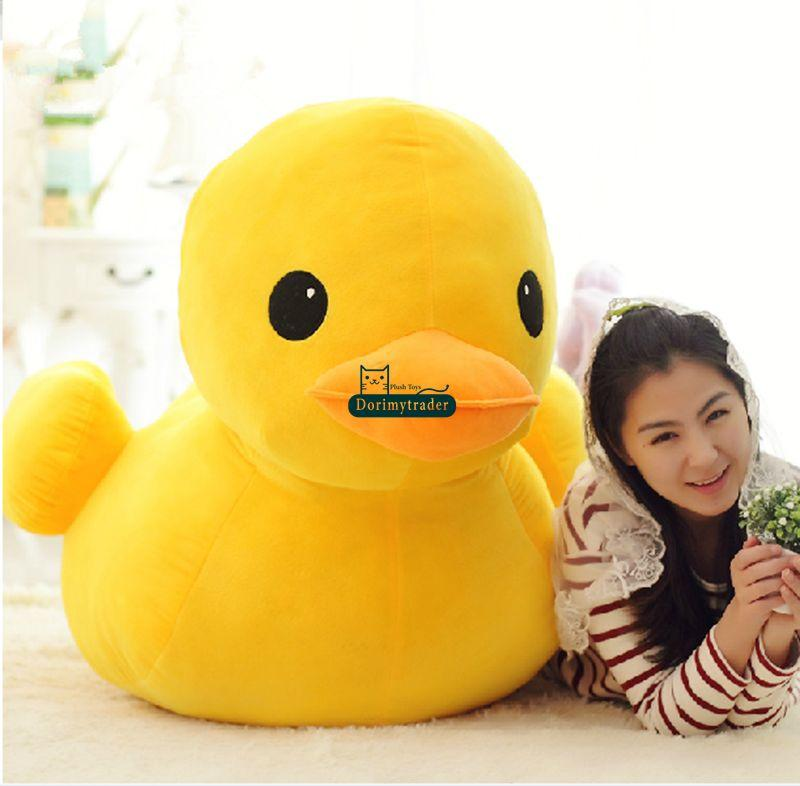 Dorimytrader Top Selling 39'' / 100cm Large Stuffed Soft Plush Cartoon Rubber Duck Toy, Nice Gift for Babies, Free Shipping DY60279