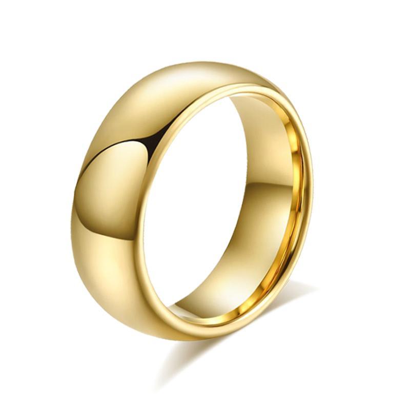 8.0mm anéis de carboneto de tungstênio para homens anel anel de casamento de alta qualidade mens jóias