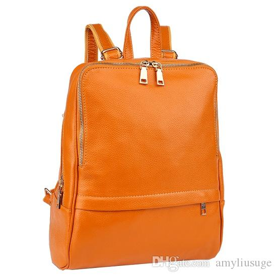 Women'S Genuine Leather Backpack Purse Handle Satchel Young Ladies ...
