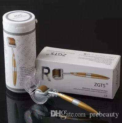 192 titanium zgts cuidado de la piel zgts meso derma rodillo, rodillo de microneedle para la cara y el cuerpo todos los tamaños disponibles 10 unids / lote