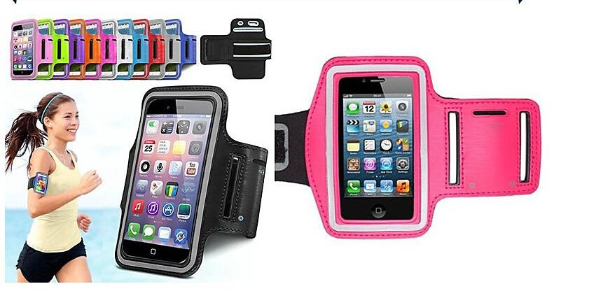 Stylish WaterProof Sport Gym Running Armband Protector Soft Pouch Case Cover For For Apple iphone 6 6G / 6+ Plus 4.7 / 5.5 Inch 4 4s 5 5C 5S