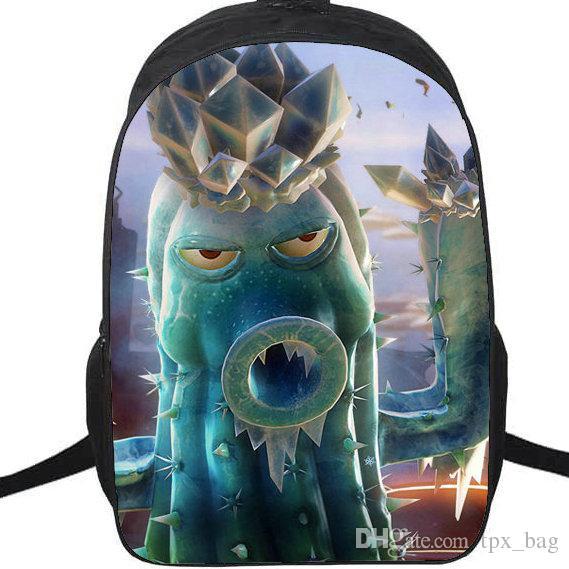 Ice cactus cannon backpack Plants vs Zombies daypack بارد PVZ schoolbag لعبة حقيبة الظهر الرياضة حقيبة مدرسية في الهواء الطلق حزمة اليوم.