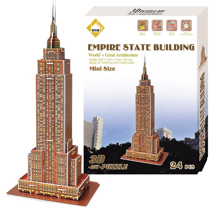 3D Puzzle World Famous Buildings Empire State Building 3d Puzzle Paper  Children Creative Toys For Adults/Kids Birthday Kids Gift Building Block  Toys