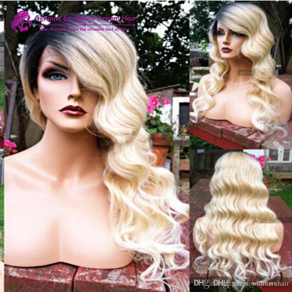 Горячий новый продукт 130 плотность естественная волна волос glueless фронта шнурка и полные парики шнурка человеческих волос парик с волосами младенца
