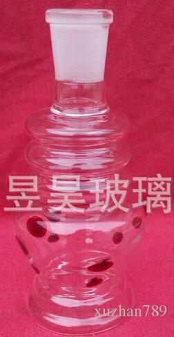 Grandes tubos de vidrio de agua de un conjunto completo de accesorios
