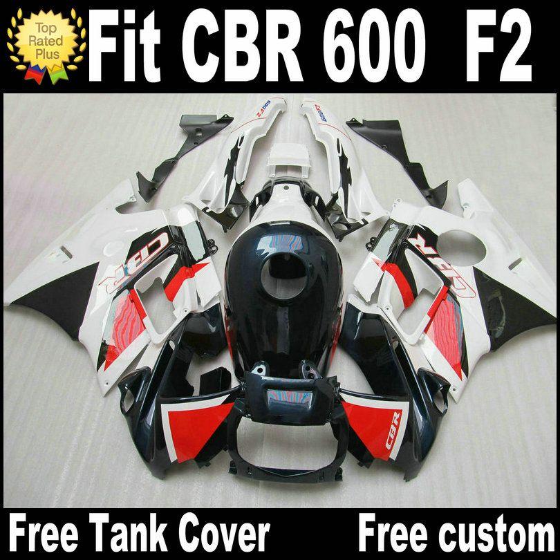 Kit carena 7 regali gratuito per HONDA CBR 600 F2 1991 1992 1993 1994 carene nere rosse bianche CBR600 91 - 94 motobike RF33