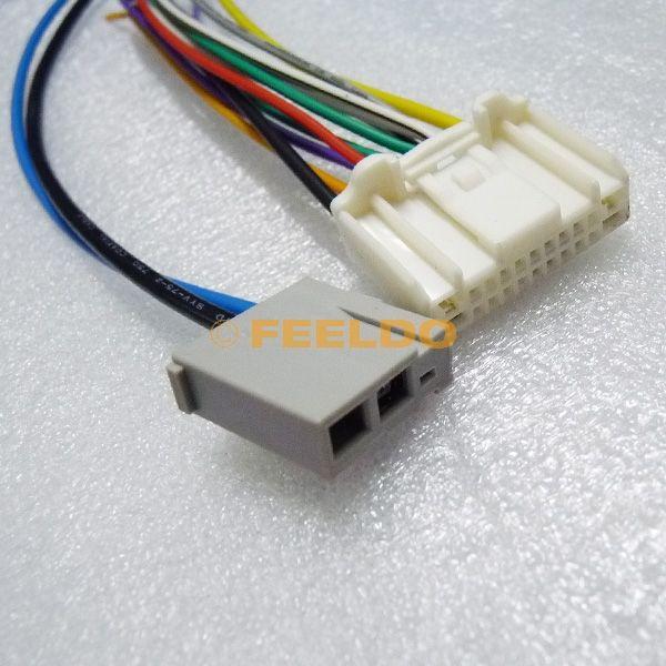 Feeldo Car Stereo Audio Wiring Harness With Antenna