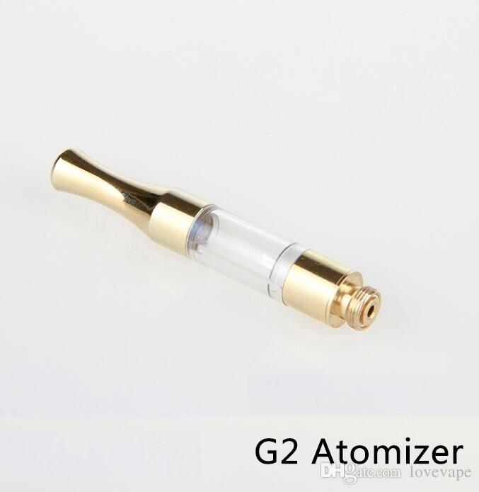 clearomizer G2 Cartridge Metal Drip Tip CE3 vape Tank Cartridge Vaporizer 510 Thread Cartridge tank waxy oil atomizer vape pen cartridges