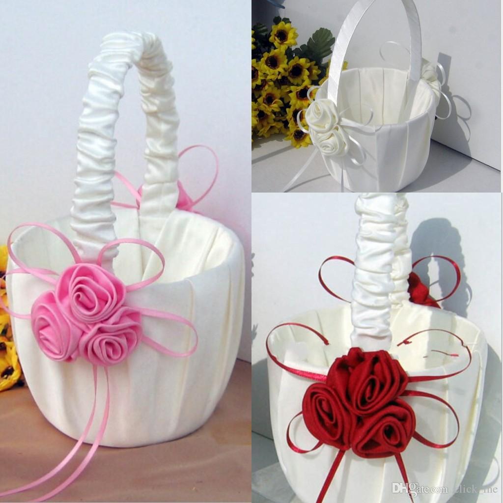 Flower Girl Baskets for Wedding Favors Basket Bridesmaid Petal Basket Wedding Accessories Photography Props Bridal Favors New