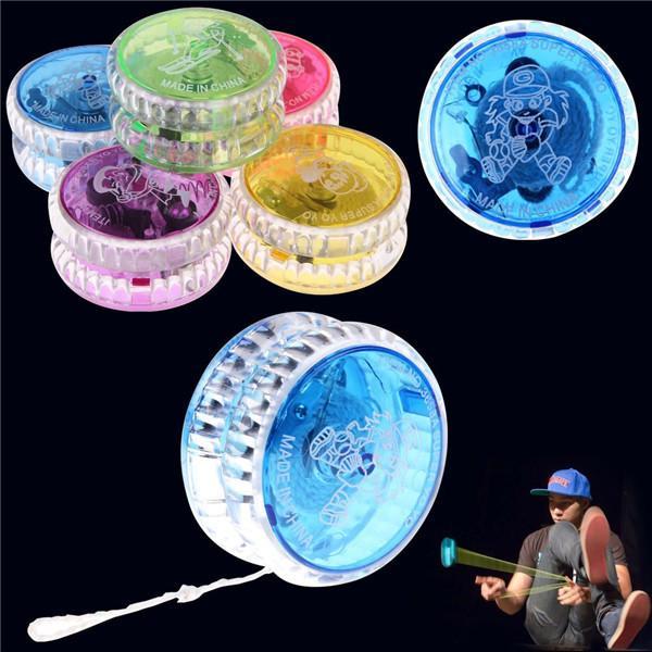 Atividade Brinquedos 100 Pcs YOYO Chinês Profissional de Plástico LED Flash YO-YO Bola Truque Brinquedo para Crianças Adulto mix cores