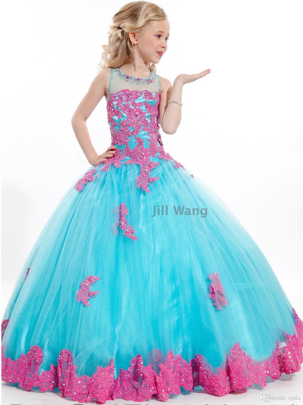 21 2016 princess flower girl dresses for weddings girls 100% real ...