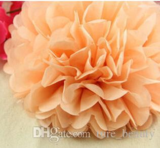 """18% de réduction 15pcs papier bouquet de pivoine fournitures de mariage papier guirlande décoration de mariage fournitures d'anniversaire (3 """"4"""" 5 """") papier de soie pom poms"""