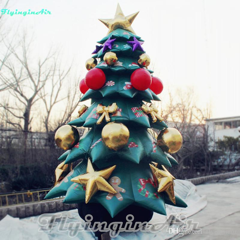 20' Outdoor Decorative Tree Inflatable Christmas Tree Inflated with Printing
