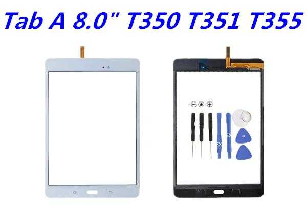 OEM for Samsung Galaxy Tab A 8.0 T350 VS T351 T355 Touch Screen Digitizer Glass Lens with Adhesive Tape Replacement Parts